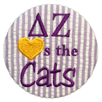 Purple & Gold Cats - Seersucker