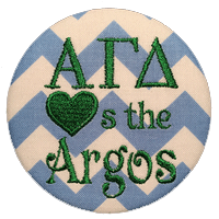 Blue & Green Argos - Blue Chevron