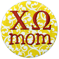 Chi Omega - Yellow Scroll Mom