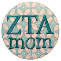 Zeta Tau Alpha Mom - Teal Pattern