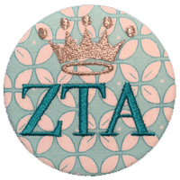Zeta Tau Alpha - Teal Pattern