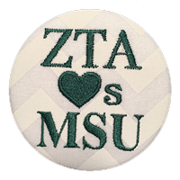 Green & White Spartans - Zeta Tau Alpha