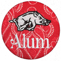 Arkansas Alum - Red Paisley