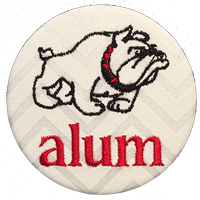 Georgia Bulldogs - White Chevron Alum