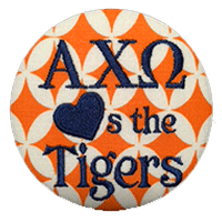 Orange & Navy Tigers - Orange Diamond