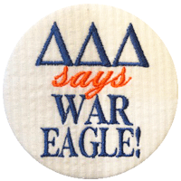 Orange & Navy Tigers - White Seersucker WAR EAGLE