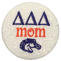 Blue & Orange Broncos - Tri Delta Mom