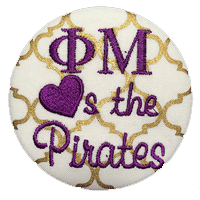 Purple & Gold Pirates - Gold Quatrefoil