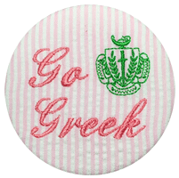 Go Greek - Seersucker Crest