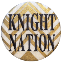 Black & Gold - Metallic Zig Zag Knight Nation