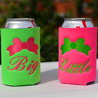 Big/Little Bow Koozie Set