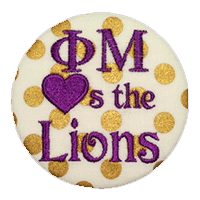 Purple & Gold Lions - Metallic Gold Dot