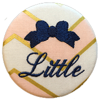 Sorority Bow Little - Pink & Gold Chevron