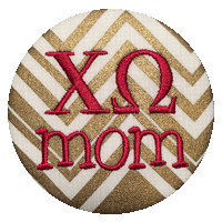 Gold Sorority Mom - Metallic Zig Zig