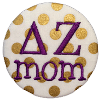 Gold Sorority Mom - Metallic Polka Dot