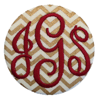Monogrammed Button - Metallic