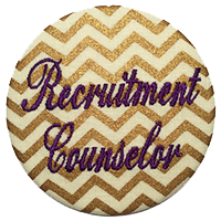Recruitment Counselor Cursive  - Metallic Chevron