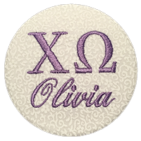 Sorority Recruitment Name Tag - White Floral