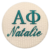 Sorority Recruitment Name Tag - White Seersucker