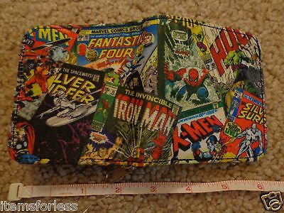 Marvel Wallet Hulk Spiderman Silver Surfer X-men Fantastic Four Iron Man