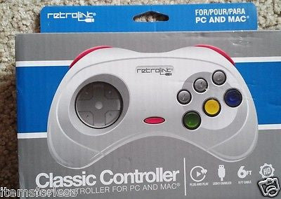 Retrolink Sega Saturn Style USB wired controller for PC and Mac - Itemsforless