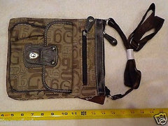 Womens G Style Gardenia Shoulder Strap Bag Brown Black Tan Silver New Messenger -  ITEMSFORLESS        - 1