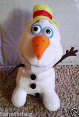 "Olaf Snowman with Hat Plush Stuffed Toy Disney Frozen New 7"" - Itemsforless"