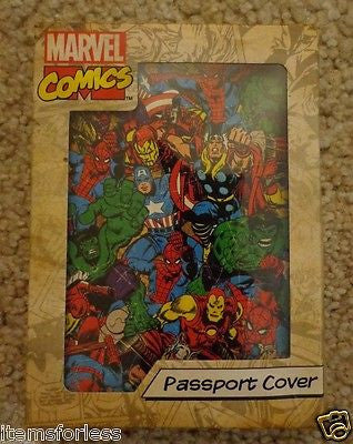 Marvel Passport Holder Thor Captain America Hulk Spiderman Avengers Iron Man - Itemsforless