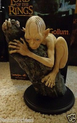 Gollum Smeagol  The Hobbit Lord of the Rings Statue NEW WETA - Itemsforless