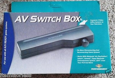Performance AV Switch Box 3 AV inputs to 1 output New - Itemsforless