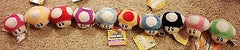 "Super Mario Bros Mushroom Plush Stuffed Keychain New 10 colors 2"" Nintendo - Itemsforless"