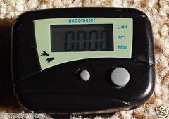 1 Black Pedometer and Calorie Counter Small Easy to use Brand New in Box USAship - Itemsforless