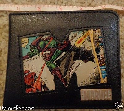 Marvel Comics Wallet Spiderman Green Goblin Wolverine Brand New in Metal Tin