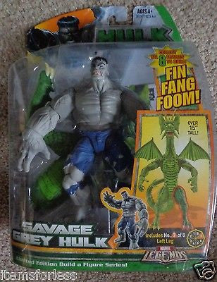 Savage Grey Hulk Marvel Legends fin fang foom New figure