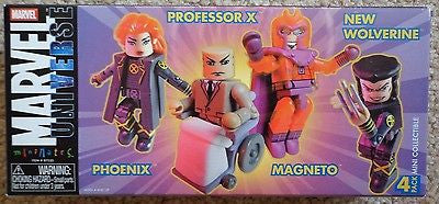 Phoeinx Professor X New Wolverine Magneto Mini Mates Marvel figures New