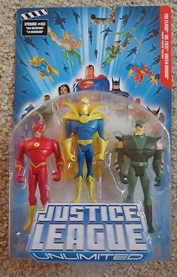 Justice League Unlimited The Flash Dr Fate Green Arrow Brand New DC Mattel