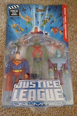 Justice League Unlimited  Superman Brainiac Martian Manhunter New DC Mattel