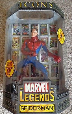Marvel Legends Spiderman icons toy biz figure unmasked Evolution of a Icon NEW