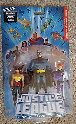 Justice League Unlimited Batman Hawkgirl Elongated Man Brand New DC Mattel