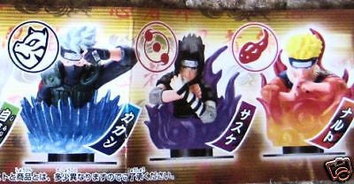 Naruto Kakashi Sasuke stamp figures NEW - Itemsforless