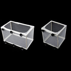 Aquarium Fish Tank Double Breed Incubator Breeder Rearing Trap Box Hatchery S/L -Y102 - Itemsforless
