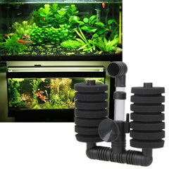 2017 1 Set Aquarium Fish Filter accessories Fish Tank Air Pump Skimmer Practical Aquarium Biochemical Sponge Filter - Itemsforless