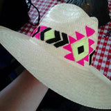 Hand Embroidered Aztec Sun Hat