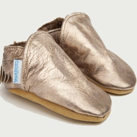 "Metallic ""Indio"" Booties"