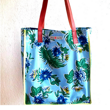 Mia Beach Market Oil Cloth Bag