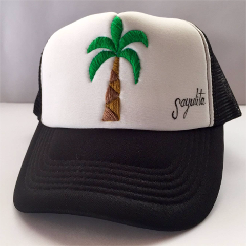 Palm Tree Embroidered Hat