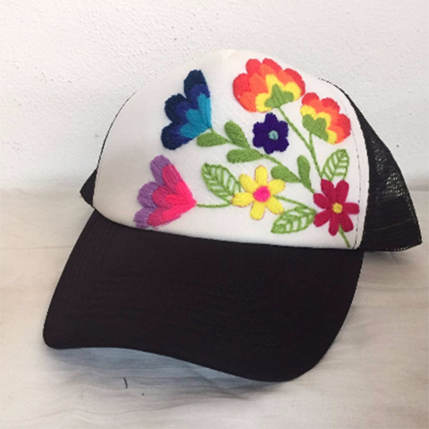 Daisy Embroidered Hat
