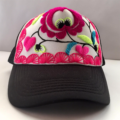9e3095564 Hand embroidered and painted Hats – Rosemary Collective