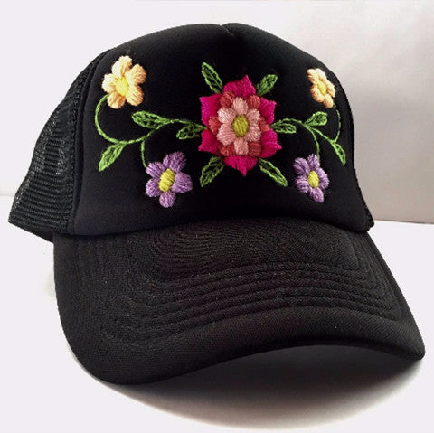 09d87640301 Rose Embroidered Hat – Rosemary Collective