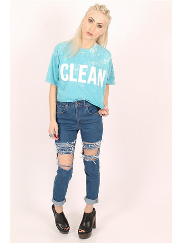 THE RAGGED PRIEST Clean/Dirty Crop Tee